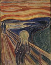 Daty po norwesku – Skrik av Edvard Munch