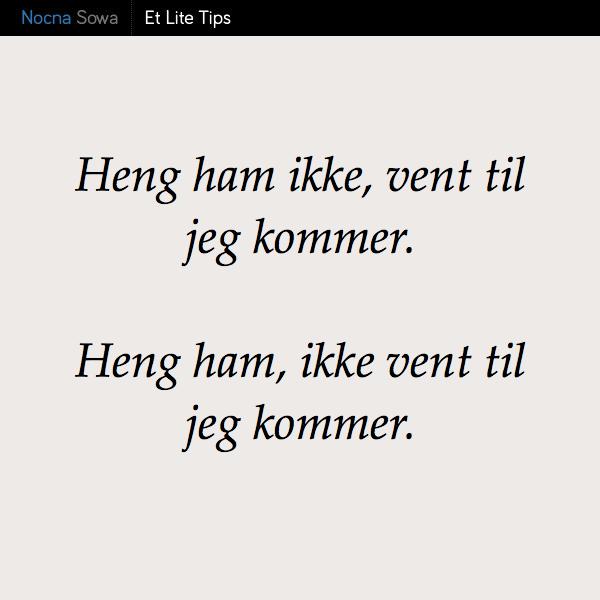 Przecinek w języku norweskim