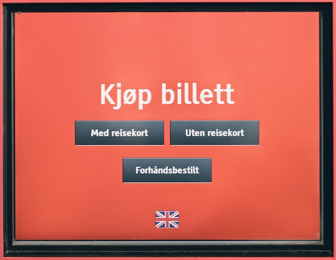 Kub bilet na pociąg po norwesku 1