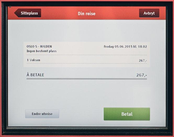 Kub bilet na pociąg po norwesku 9