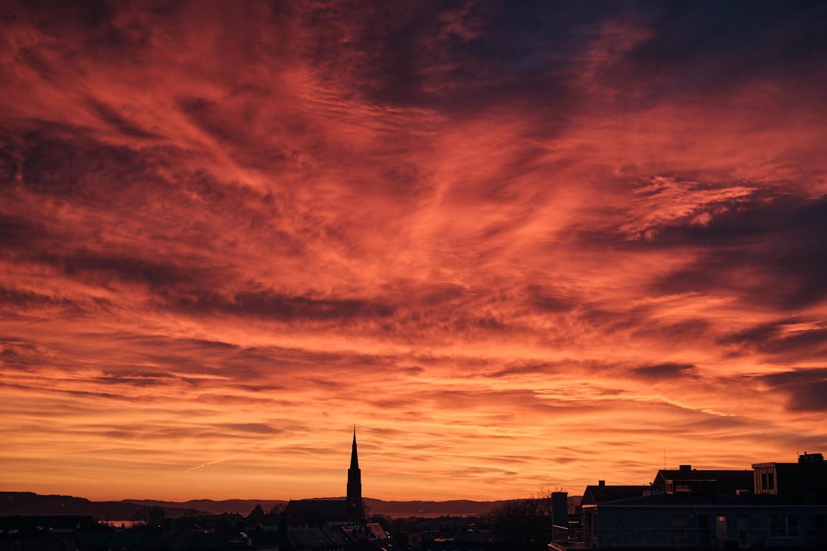Zachód słońca wOslo