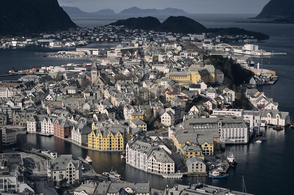 Ålesund, widok zAksla